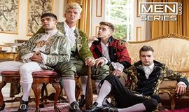 """Johnny Rapid, JJ Knight, Ty Mitchell and Joey Mills' fourway fuck in """"A Tale of Two Cock Destroyers, Episode 4"""""""