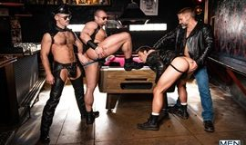Tom Of Finland – Leather Bar Initiation – Nate Grimes, Jaxx Thanatos, Dirk Caber & Kurtis Wolfe