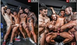 Ganging Up On Allen King – Allen King's 4-Man Gang Bang