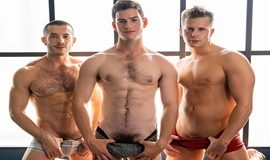 Nixon returns for a bareback threeway with Archie and Manny