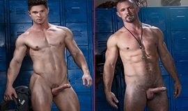 Jesse Zeppelin bangs Devin Franco raw in Tales From the Locker Room