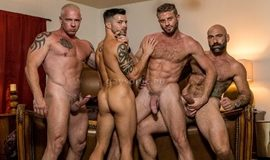 Casey Everett, Link Parker, Ryan Carter, Drew Sebastian – Poker Night Orgy