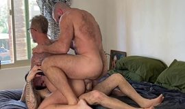 Palm Springs Pile On – FFurryStud, Alex Tikas, Tony XOT