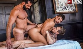 Massimo Arad and Robert Royal double fuck Dann Grey's ass in Bareback Auditions 11: Euro Jizz