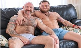 Riley Mitchel and Musclebear Montréal flip fuck raw in Creating Hot Sexy Memories