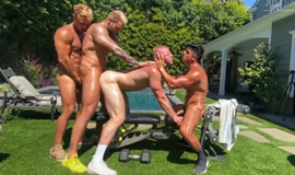 Logan Stevens – 4way with greu28, trophyblond and magicblond